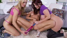Three Lesbians With Dildos Sandy, Sophie Dee And Tanya Tate