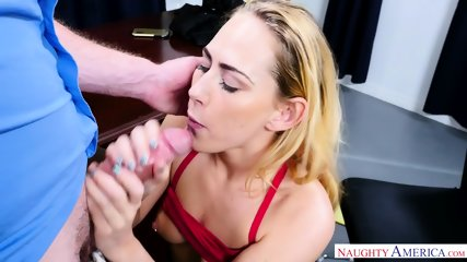 Blonde Babe Rammed In Office