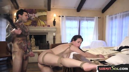 Cumcovered Submissive Gets Anally Fucked
