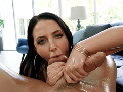 Angela White Sucking On Cock And Balls
