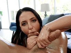 Angela White Sucking On Cock And Balls