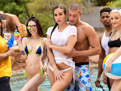 Pool Shy Featuring Desiree Dulce And Xander Corvus – Brazzers HD