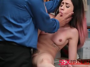 Hairy Muff Babe Getting Slammed By LP Officer