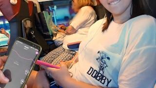 My FRIEND Controll My Bluetooth Dildo On The Public Train Untill I…
