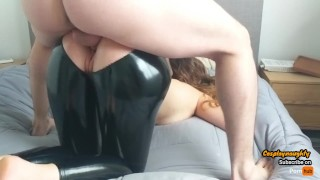Teen Gets Her Latex Leggings Ripped And Gets Fucked Hard Through It