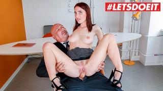 LETSDOEIT – Slutty German Secretary Gets All Wet On Her Bosses Cock
