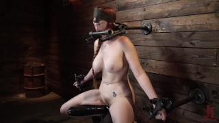 Red Headed Lauren Phillips In Grueling Bondage And Suffering
