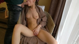 Sucking Dick In A Hotel Room With Throbbing Creampie