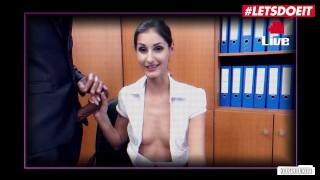 Bums Buero – Small Tits Secretary Cuckolds Her Husband On Cam – LETSDOEIT