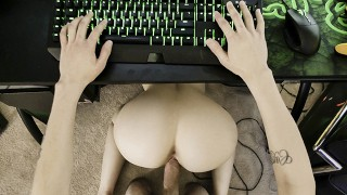 Sucking Stepbros Cock While He Plays VideoGames