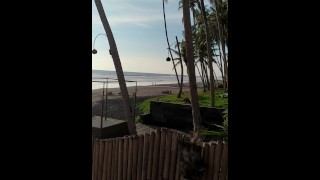 Real Outdoor Sex On A Public Beach – Cum On Belly
