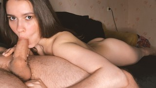 Perfect Young Teen With Big Tits Does Amature Blowjob, Mouth Crempaie