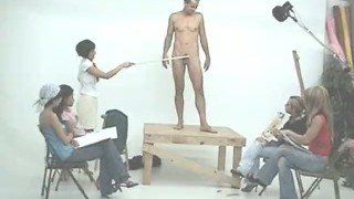 CFNM Art Class Male Model
