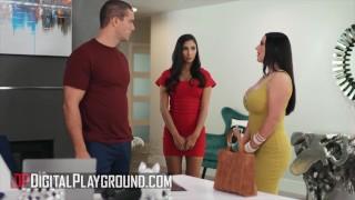 DigitalPlayground   Buxom Babe Angela White Shares Huge Cock With Gianna Dior In A FFM Threesome