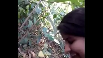 Desi Girl Very Nice Sucking N Fucking In Forest   HornySlutCams.com